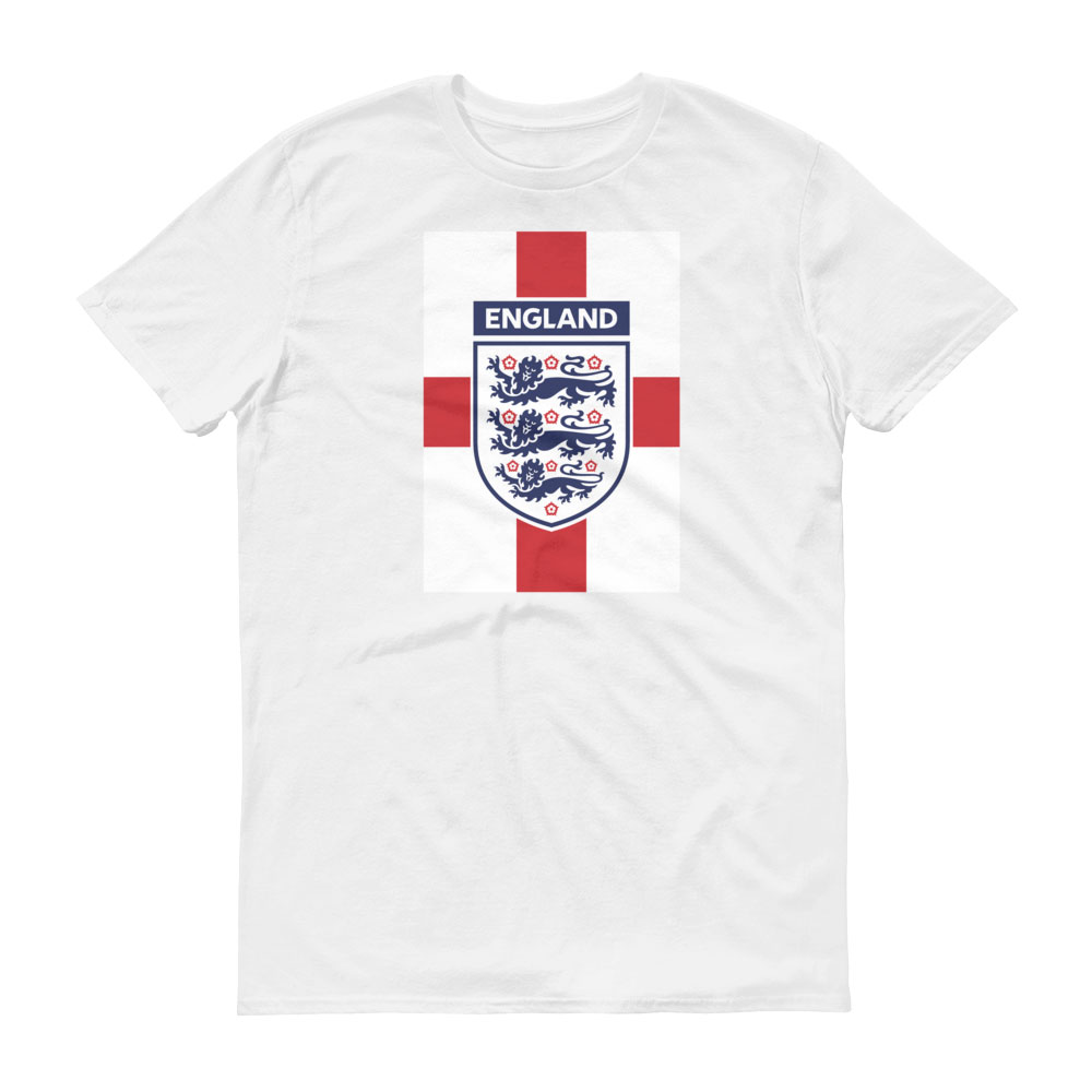 England National Soccer Team Men's T-shirt - Futball Designs