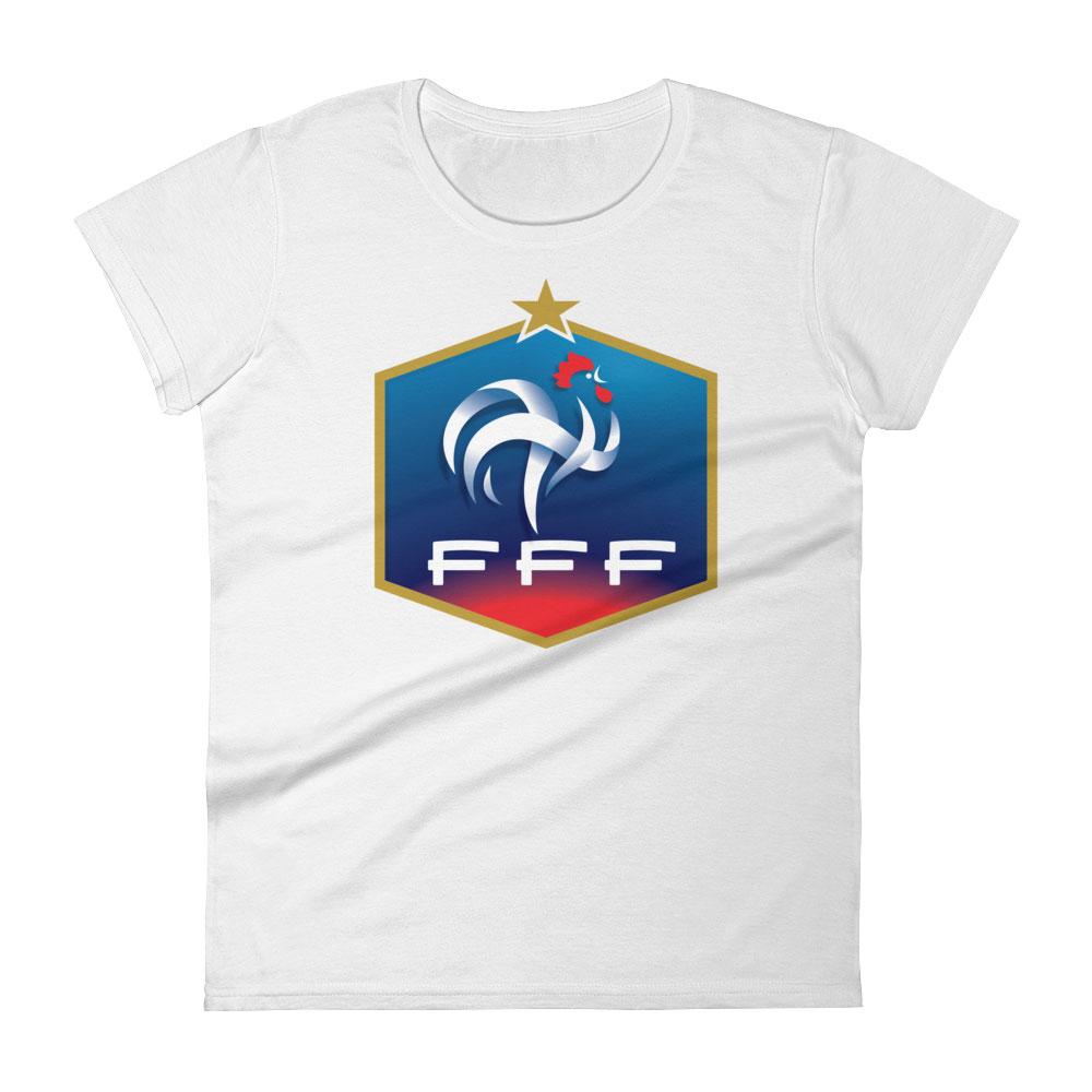 France National Soccer Team Women s T-shirt - Futball Designs aca5d8009