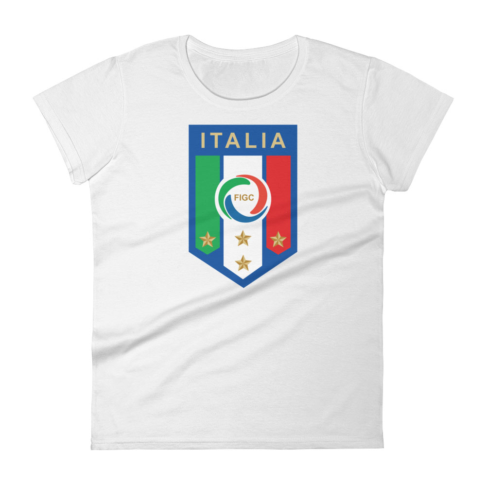 Italy National Soccer Team Women s T-shirt - Futball Designs f76b540497