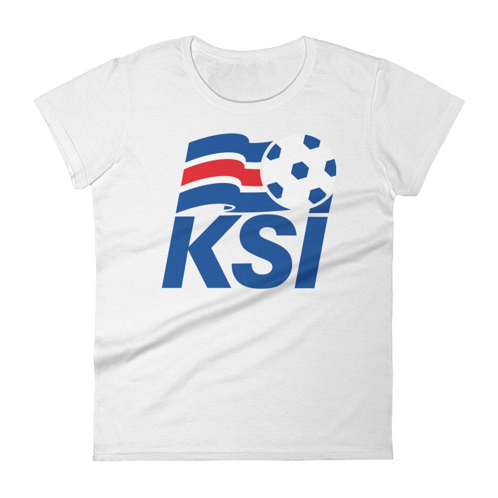 Iceland National Soccer Team Women s T-shirt - Futball Designs 96fcafe5d