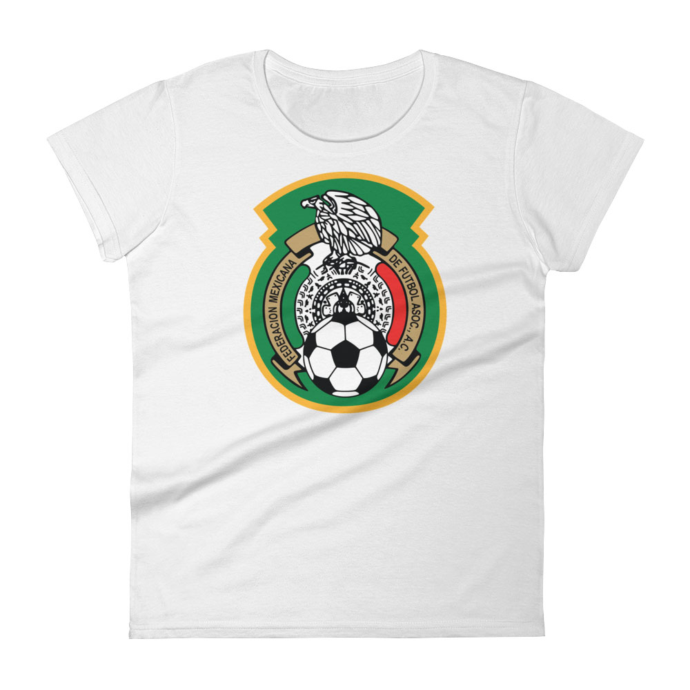 Mexico National Soccer Team Women s T-shirt - Futball Designs bfed25640ca4